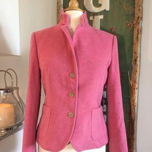 🛍 LIKE NEW💗 Vintage J. Crew Wool Pink Blazer 🛍